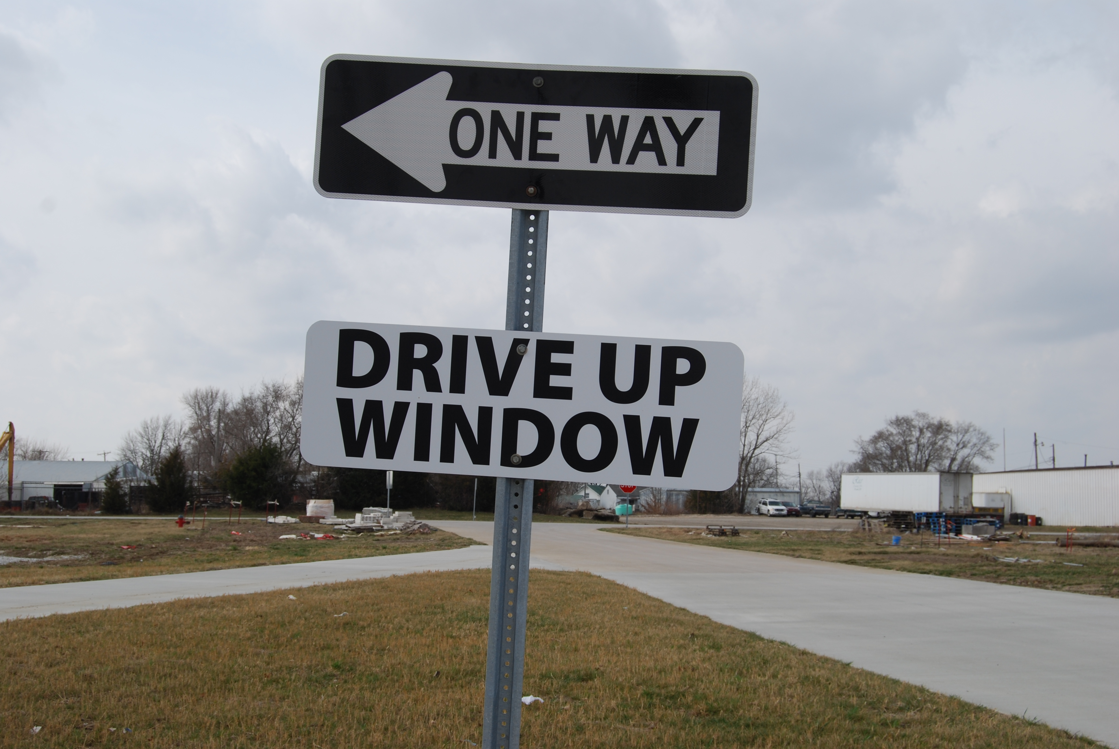 pay taxes with the drive up window